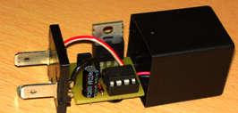 Реле поворотников на микроконтроллере, схема, печатка