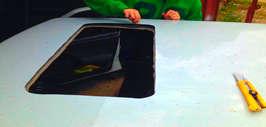 Как установить люк в авто своими руками