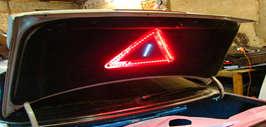 Аварийный знак на светодиодах в багажник своими руками