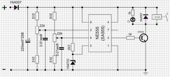 Контроллер для зарядки АКБ своими руками, схема