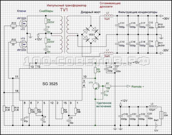 которая переключает силовые транзисторы