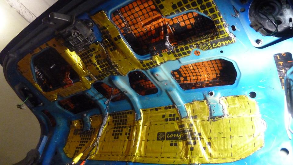 "Шумовиброизоляция  крышки багажника Chevrolet Cruze. Материал ""Comfort mat"""
