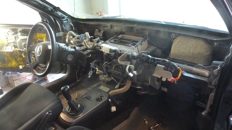 Шумовиброизоляция передней панели Mitsubishi Lancer IX Материал «Comfort mat»