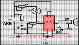 Делаем схему автомобильного датчика температуры радиатора