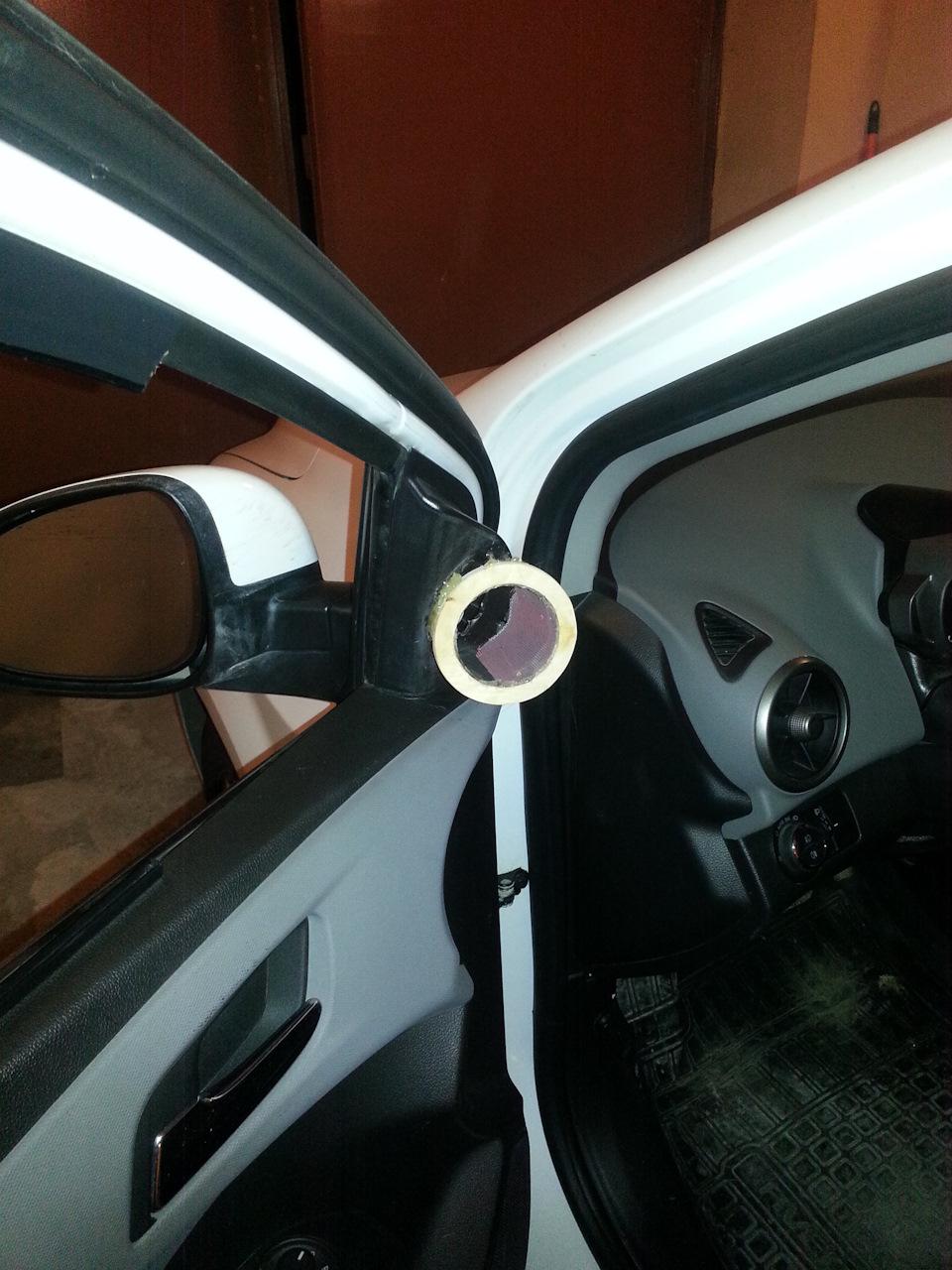 Подиумы для пищалок(твитеров) URAL AS-W30TW «SHKVAL» в Chevrolet Aveo своими руками.