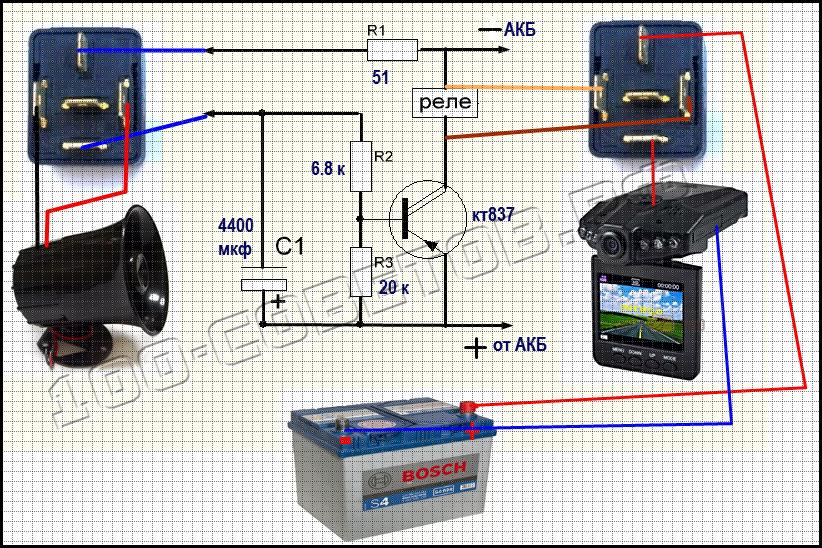 Видеорегистратор в дополнение к авто сигнализации