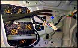 Шумовиброизоляция дверей Nissan Teana.