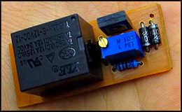 Автоотключение любого ЗУ автомобиля при завершении зарядки, схема