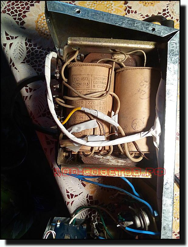 Простая зарядка для авто из старого лампового телевизора