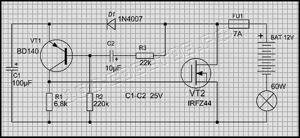 электронное реле схема