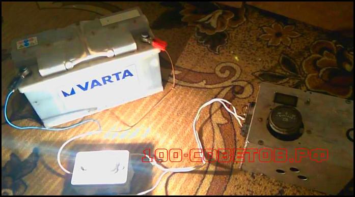 схема для восстановления аккумулятора