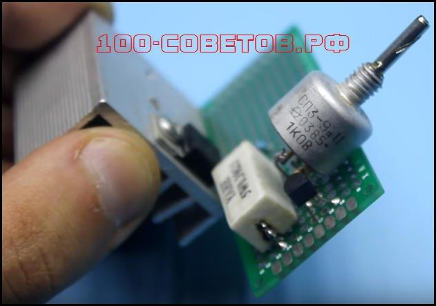 управлять и силовым транзистором