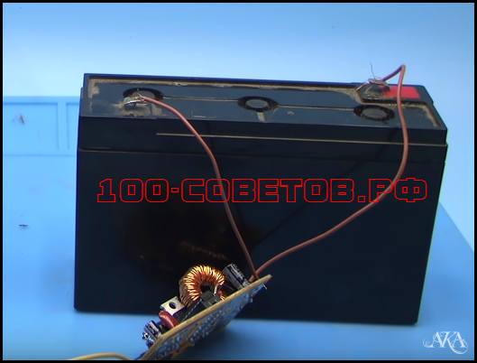 Схема десульфатирующего зарядного устройства 555