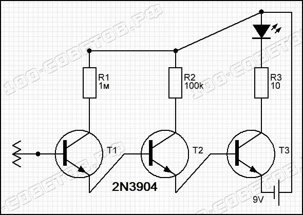 Простой детектор напряжения своими руками, схема