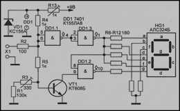 Цифровой пробник на микросхеме К155ЛА8