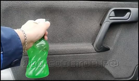 Простой состав для чистки салона автомобиля