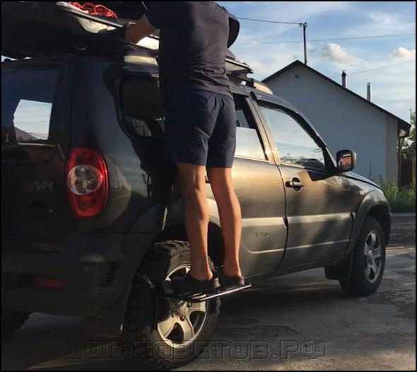 Ступенька на колесо или как достать до багажника.