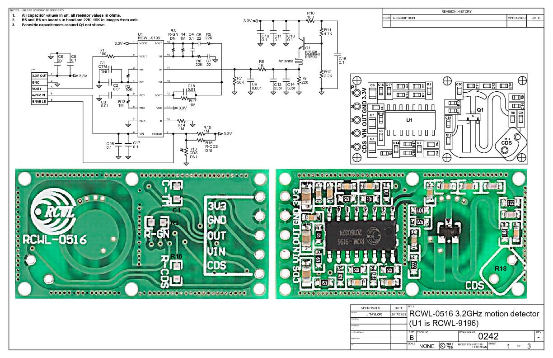 Как сделать из дешевого датчика RCWL-0516 автомат освещения или сигнализацию