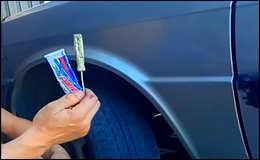 Как починить прокол колеса в дороге, без набора