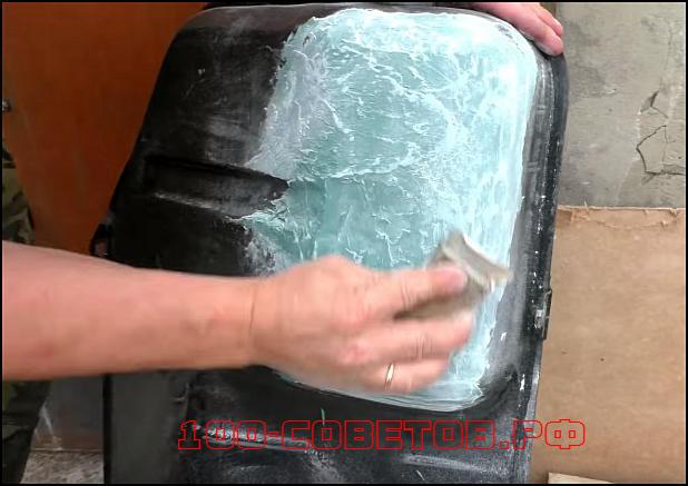 Как заделать дырку в топливном баке без сварки.