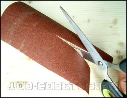 Полезная насадка из наждачки для дрели или шуруповерта
