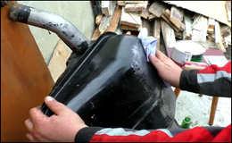 Как заделать дырку в топливном баке
