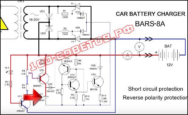 Простое, тиристорное зарядное устройство для авто АКБ