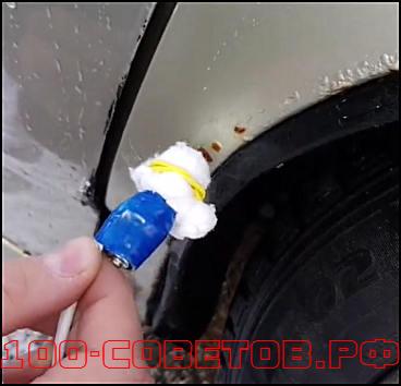 Как избавиться от ржавчины на авто, простой батарейкой