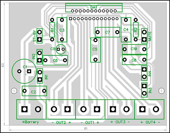 Автомобильный УМЗЧ 4x45Вт на TDA7386