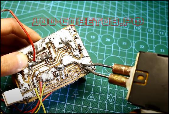 Паяльник моментального нагрева на аккумуляторах, схема
