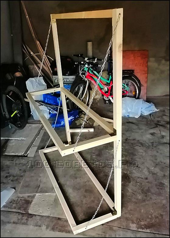 Крепление для хранения колес в гараже своими руками.