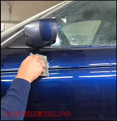 Как просто убрать подтёк краски на авто своими руками?