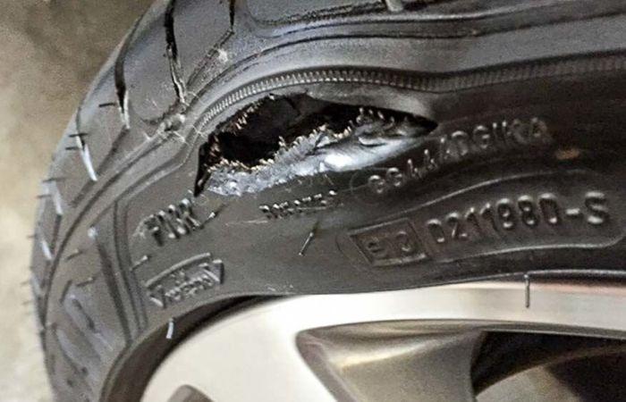 боковой порез шины, ремонт или замена