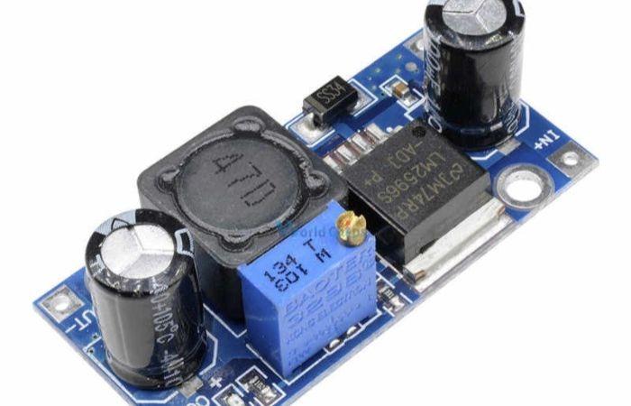 lm2596 dc dc понижающий модуль, схема