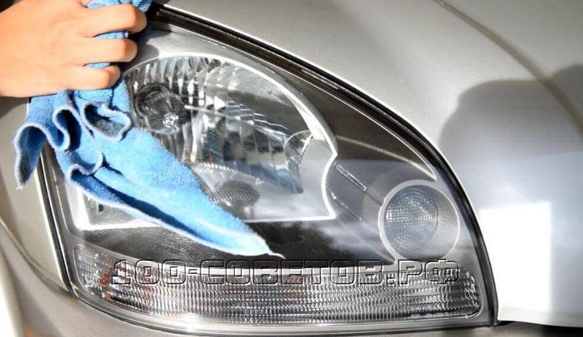Как самостоятельно отполировать фары автомобиля зубной пастой