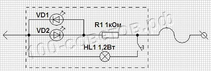 Контролька автоэлектрика светодиодная схема