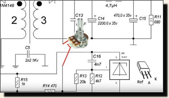 подключить переменный резистор